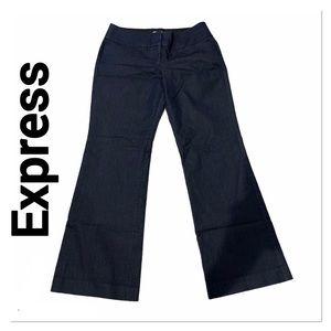 EXPRESS Denim Blue Editor Dress Pants 10 regular